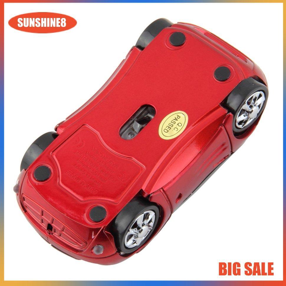Chuột quang chơi game không dây hình xe hơi 1000dpi đầu usb có thể điều chỉnh chất lượng cao