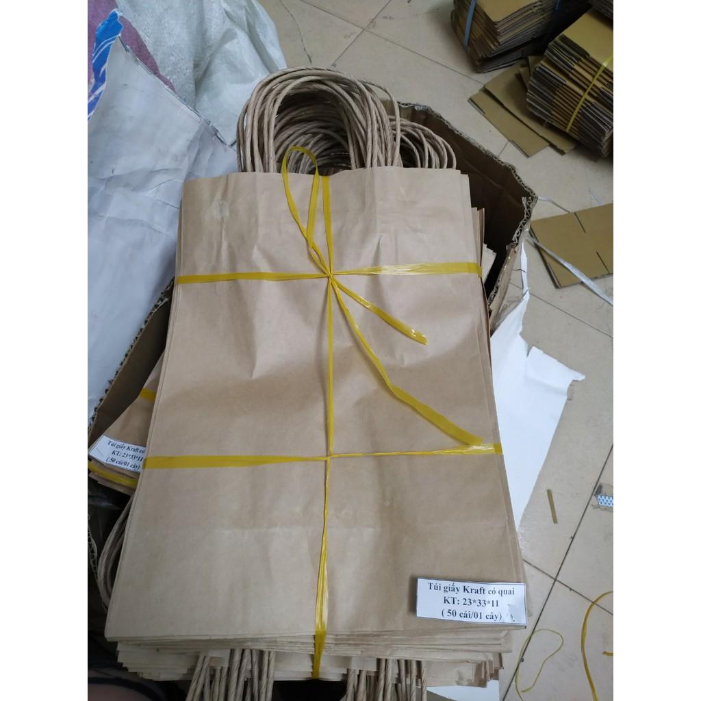 Túi giấy xi măng, túi kraft gói hàng nhiều size