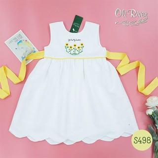 Đầm trắng thêu hướng dương
