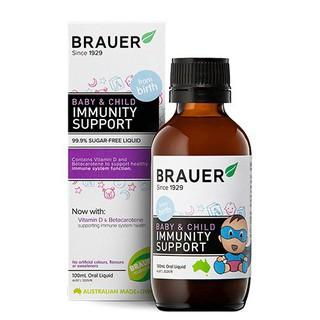 Brauer Hỗ trợ Tăng cường Hệ miễn dịch dạng siro 100ML [ Mất Vỏ Hộp, sản phẩm nguyên vẹn và chất lượng đảm bảo ] thumbnail