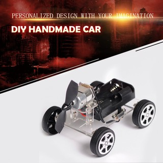 DIY Mini Wind Car Assemble Kit Kids Developmental Children Educational Toy