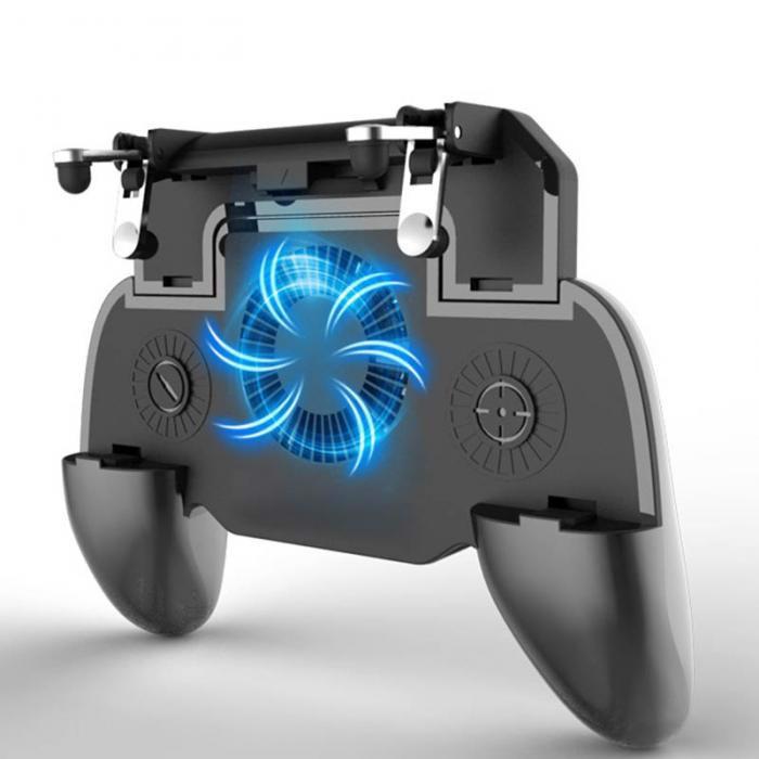 Tay cầm chơi game có nút hỗ trợ di chuyển, tản nhiệt cho điện thoại và pin sạc dự phòng - Beetechvietnam
