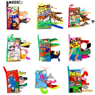 Amee Baby Infants Cartoon Animal Tail Cloth Book Toy Early Learning Educational