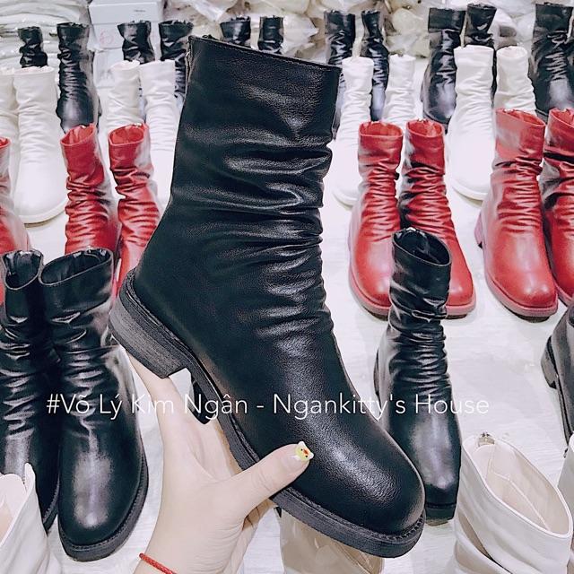 Giày Boot cổ cao Đen size 36