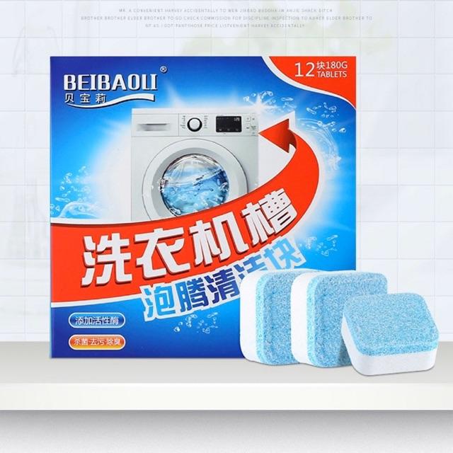 Hộp 12 Viên Nén Tẩy Lồng Máy Giặt mẫu mới _ Giá Sỉ Tại Kho