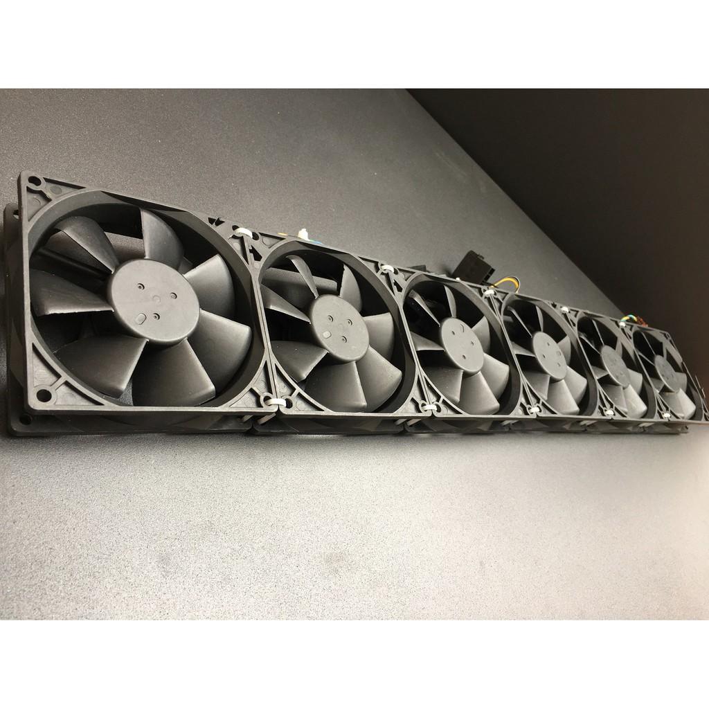 Dãy quạt server 9cm, chiều dài 54cm, fan 12v tháo máy bộ (đã kèm jack)