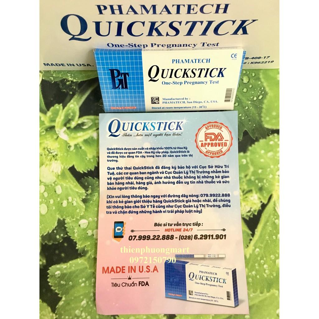 Que thử thai Quickstick hàng chính hãng