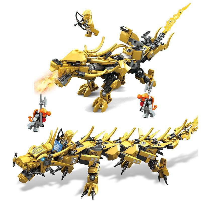 Bộ đồ chơi lắp ráp hình Ninja Rồng Vàng cỡ bự mới nhất 2020