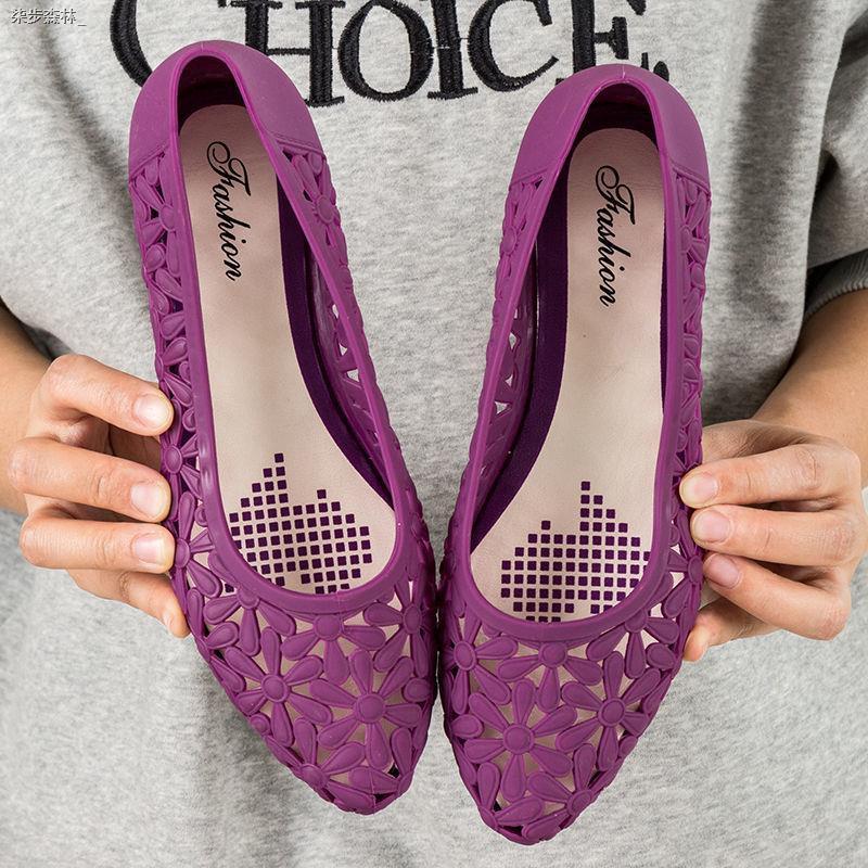 Giày Sandal Đục Lỗ Kiểu Dáng Đơn Giản Trẻ Trung Dành Cho Nữ