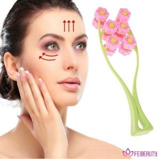 ❥fei beauty❥ Face-Up Roller / Imitation Tool / Cheek / Women's Face Anti-Wrinkle Portable Flower Shape