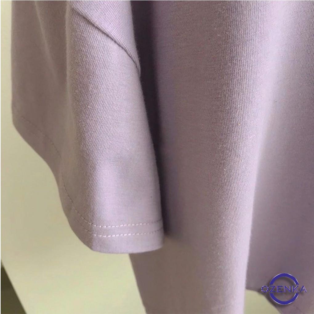 Áo croptop cổ tim cộc tay rộng chất cotton free size 3 màu đen trắng tím CR192