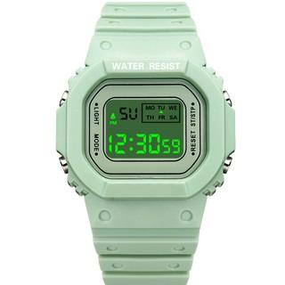 Đồng hồ nữ và nam Tisselly điện tử mặt vuông N911 mẫu thể thao đầy đủ các chức năng và dây nhựa silicon cao cấp thumbnail