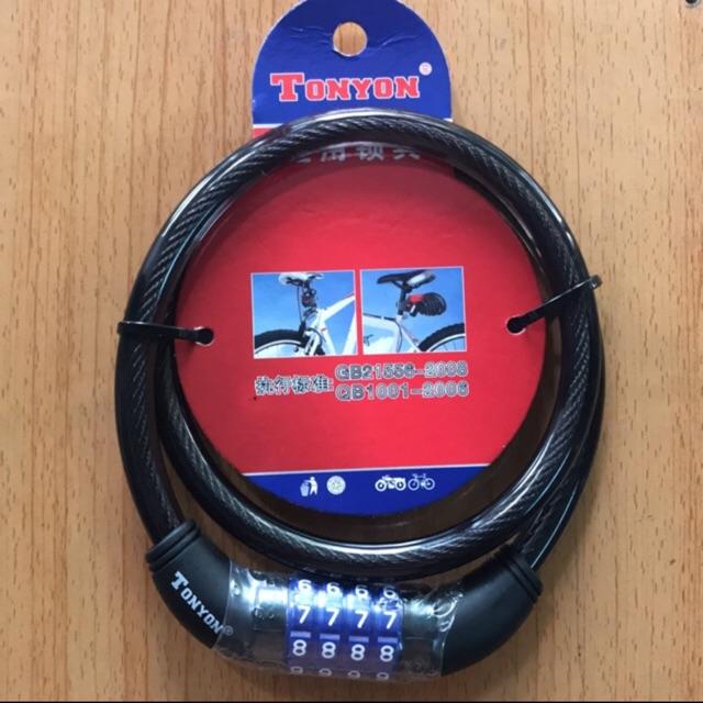 Khoá dây cáp TONYON 4 số dày 12mm dài 0,8m