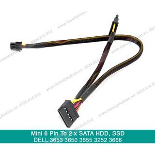 Dây nguồn 6 Pin Mini sang 2 cổng SATA dùng cho máy DELL 3653 3650 3655 3252 3668