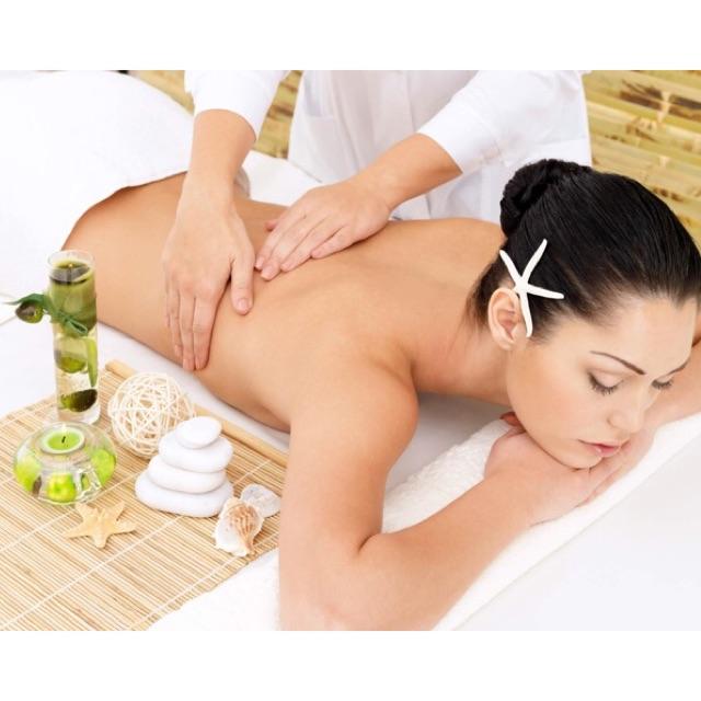 HCM [Voucher] - Massage Body + Foot Đá Nóng + Trẻ Hoá Da Mặt + Chạy Tinh Chất Collagen
