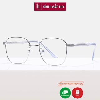 Gọng kính cận kim loại nam nữ Lilyeyewear mắt tròn màu sắc thời trang thiết kế chắc chắn - 1013