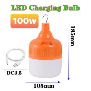 Bóng đèn tích điện 6-8h , loại 100w sạc tích điện có móc treo BDTD67 thumbnail