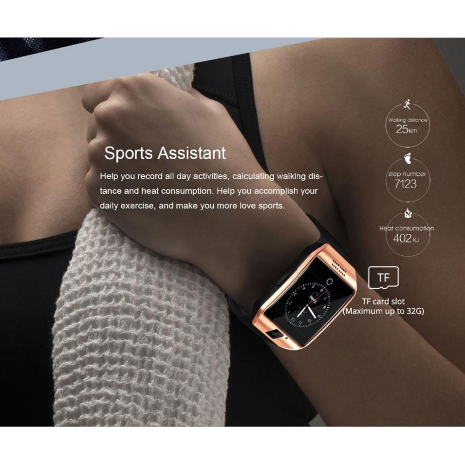 Đồng Hồ Thông Minh Q18 Kết Nối Bluetooth Hỗ Trợ Thẻ Sim Tf