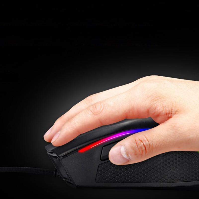 Chuột Chơi Game Rxsix Rgb Có Dây 7 Nút Bấm 4000 Dpi Cho Pc / Laptop