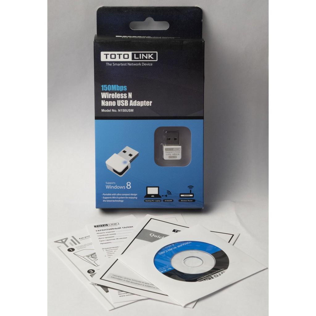 TotoLink N150USM USB Wifi Chuẩn N Tốc Độ 150Mbps – Hàng Chính Hãng Giá chỉ 100.000₫