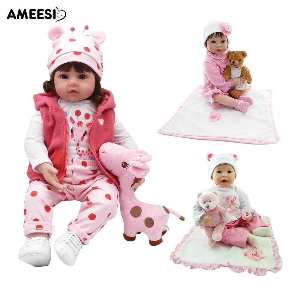 🔅🔆AMEESI  55cm Reborn Baby Doll Vinyl Silicone Accompany Toy Kids Gift