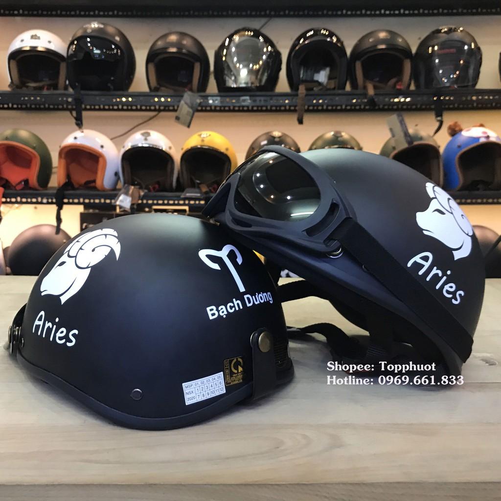 Mũ 1/2 cung bạch dương - mũ bảo hiểm 12 cung hoàng đạo