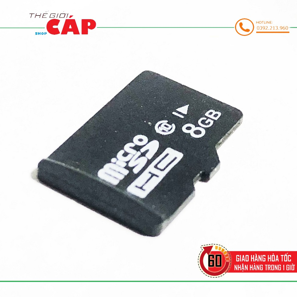 Thẻ Nhớ Micro SD Dung Lượng 8GB Class 10 Cao Cấp - Thẻ nhớ và bộ nhớ mở  rộng Thương hiệu No Brand