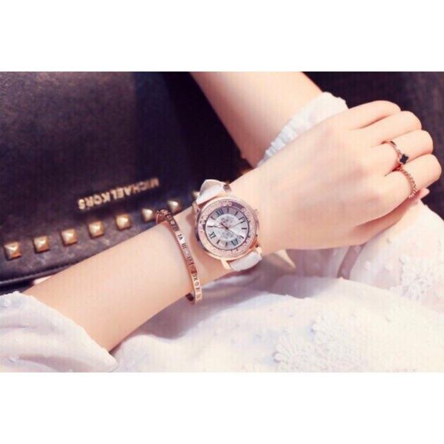 Đồng hồ nữ mặt tròn hạt xoay dây da thời trang - 3101802 , 691960806 , 322_691960806 , 225000 , Dong-ho-nu-mat-tron-hat-xoay-day-da-thoi-trang-322_691960806 , shopee.vn , Đồng hồ nữ mặt tròn hạt xoay dây da thời trang