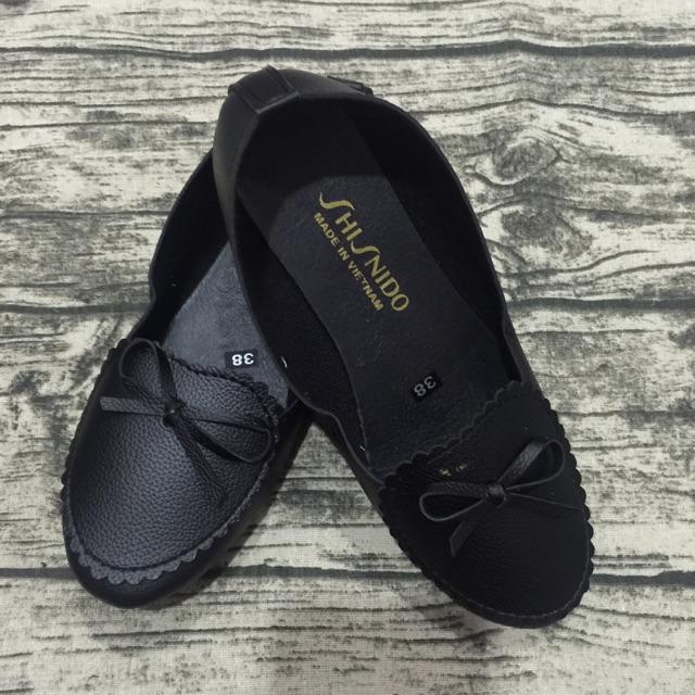 Giày búp bê đen nơ bèo( còn size 37)