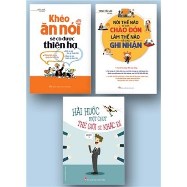 sách- Combo 3 cuốn khéo ăn khéo nói, Nói thế nào để được chào đón, hài hước một chút thế giới sẽ khá - 3499137 , 840254353 , 322_840254353 , 159000 , sach-Combo-3-cuon-kheo-an-kheo-noi-Noi-the-nao-de-duoc-chao-don-hai-huoc-mot-chut-the-gioi-se-kha-322_840254353 , shopee.vn , sách- Combo 3 cuốn khéo ăn khéo nói, Nói thế nào để được chào đón, hài hước m