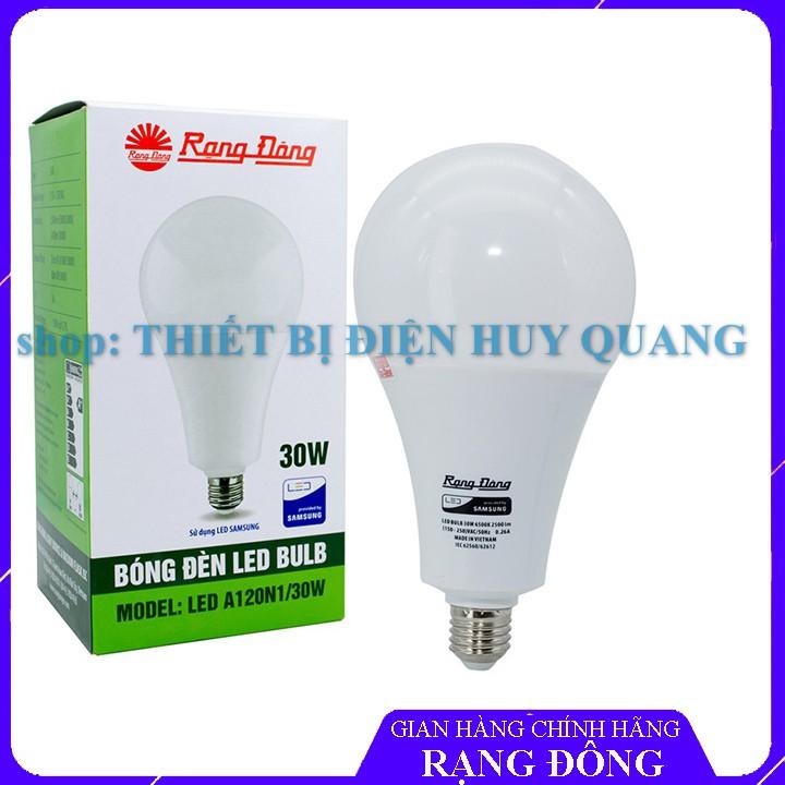 Bóng đèn LED BULB 30W Rạng Đông, Chip LED SAMSUNG, Bảo hành