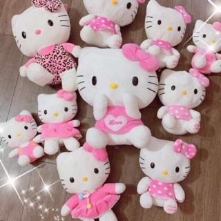 Gấu bông hello kitty màu hồng xinh xắn