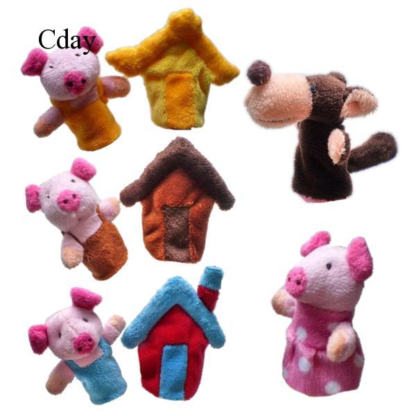 8x Finger Puppets Toy Baby Storytelling Doll Kids Children Educational Toys
