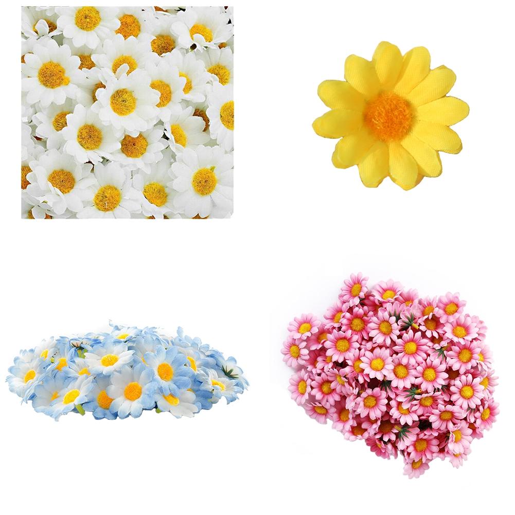 Decoration Silk DIY Home Decor Artificial Daisy Bouquet Flowers Heads