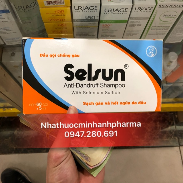 Dầu gội trị gàu Selsun ( hộp 60 gói x 5ml )
