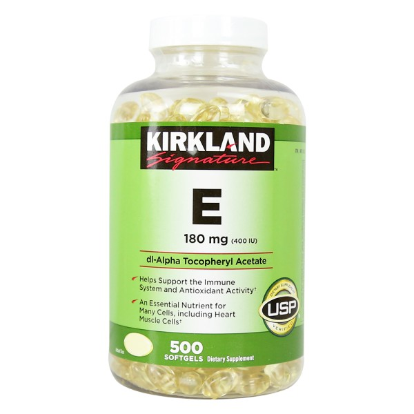 Vitamin E 400 IU Kirkland hộp 500 viên