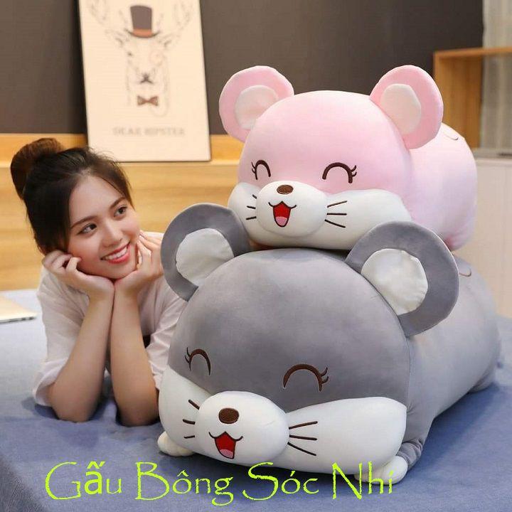 Gấu Bông Gối Ôm Chuột Cao Cấp