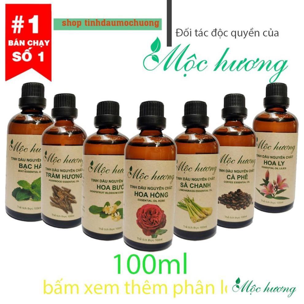 Tinh dầu 100ml Mộc hương nguyên chất có kiểm định (chọn mùi)