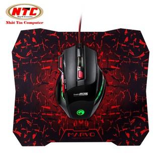 Chuột game 6D cao cấp Marvo M315 Led đa màu + Tặng kèm lót chuột Marvo G1 thumbnail
