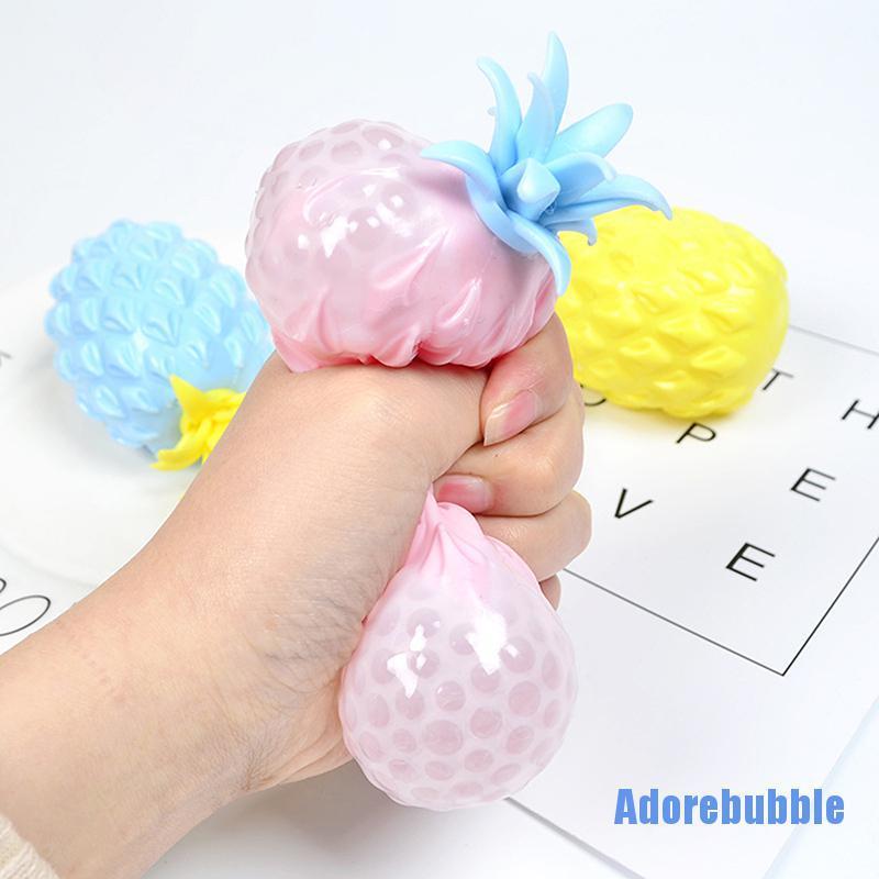 [Adorebubble 0224] 1pcs Pineapple Stress Grape Ball Funny Gadget Decompression Toys for Children