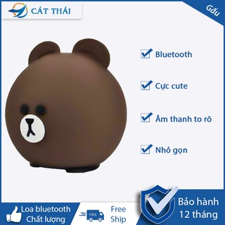 Loa bluetooth Hoạt hình gấu loa mini họa hình dễ thương âm thanh lớn nhỏ gọn dễ cầm theo