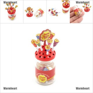 Warmheart 1:12 Dollhouse Miniature Simulation Food Mini Lollipop With Case Holder