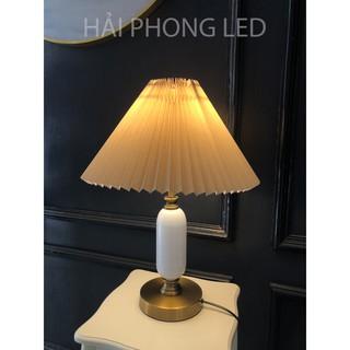Đèn Ngủ Để Bàn Phong Cách Hàn Quốc - Đèn Ngủ Xếp Ly Kèm Công Tắc phong cách sang trọng Đèn để bàn decor phòng ngủ