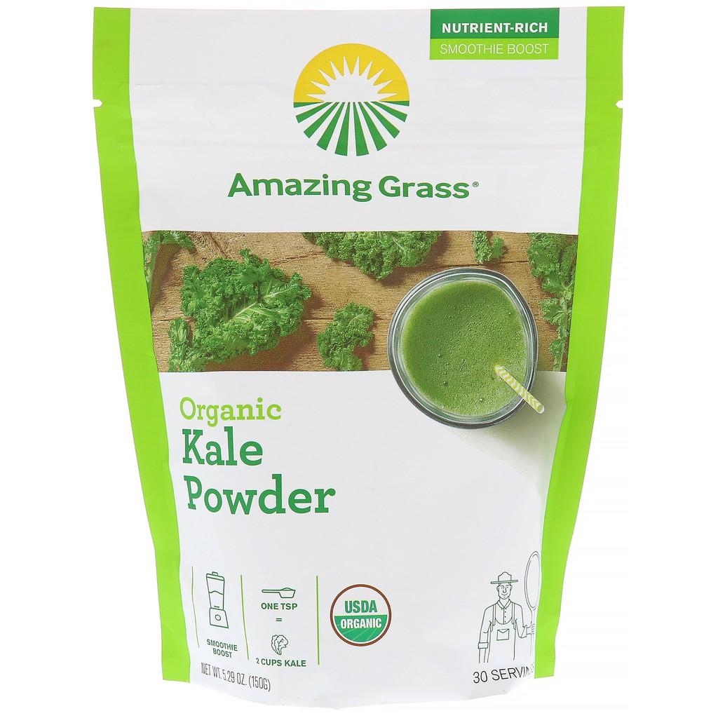 Bột cải xoăn (kale) hữu cơ Amazing Grass 150g - 10019581 , 1244253211 , 322_1244253211 , 395000 , Bot-cai-xoan-kale-huu-co-Amazing-Grass-150g-322_1244253211 , shopee.vn , Bột cải xoăn (kale) hữu cơ Amazing Grass 150g