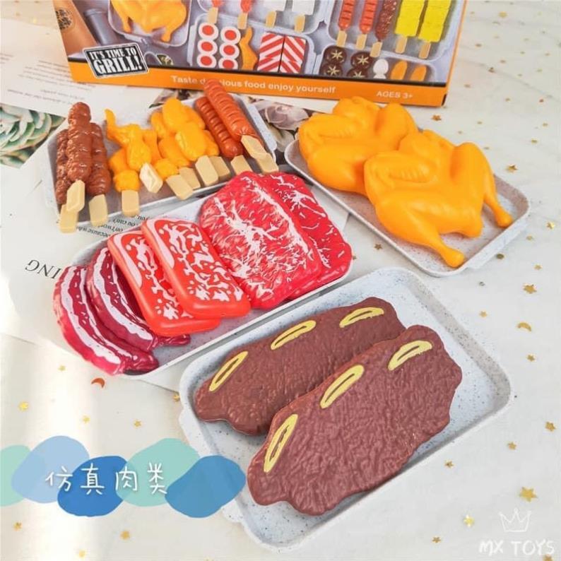 Sét Đồ Chơi Nướnh BBQ Cho Bé 55 Chi tiết