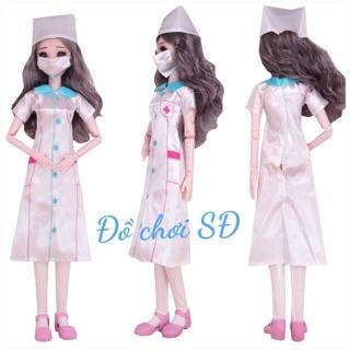 Quần áo búp bê 60 cm – áo bác sĩ