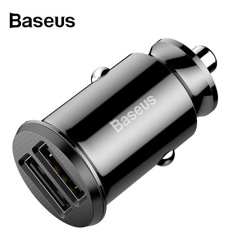 Tẩu sạc nhanh Baseus 3.1A 2 cổng USB dùng trong xe ô tô