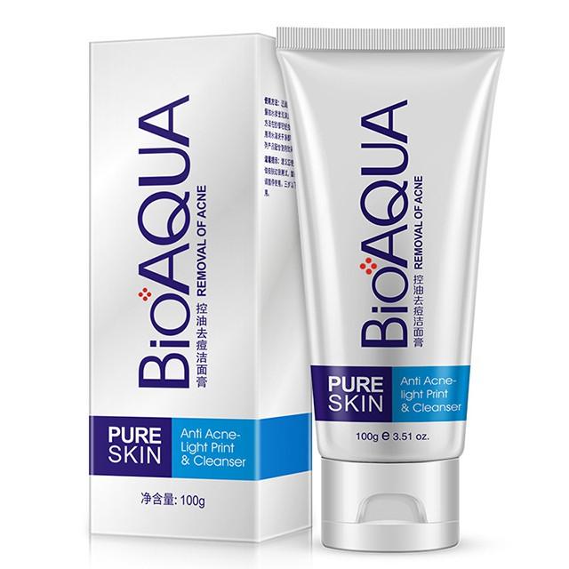 Sữa Rửa Mặt Lành Mụn Bioaqua Pure Skin Anti Acne Cleanser