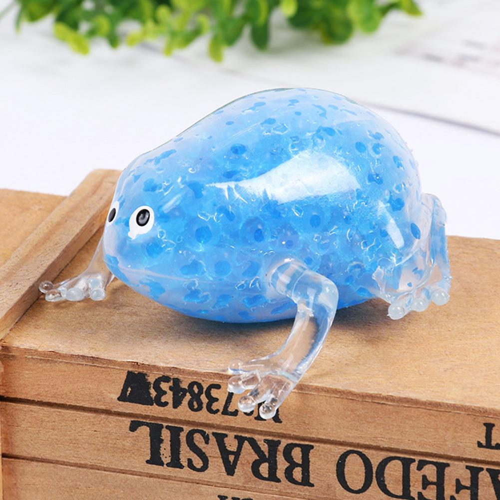 Cute Kid Sensory Random Color Gel Bead Filled Frog Shape Gift Stress Relief Squeeze Toy