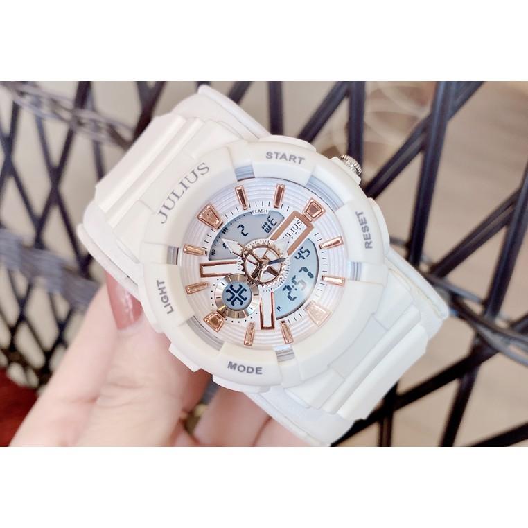 Đồng hồ unisex JULIUS JA-1276A dây nhựa dáng thể thao